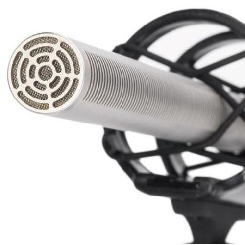 Micrófono de cañón largo.