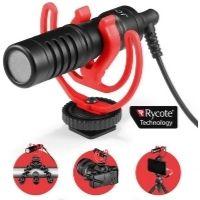 Micrófonos para cámaras. Excelente calidad. Accesorio para grabar vídeo. Color negro.