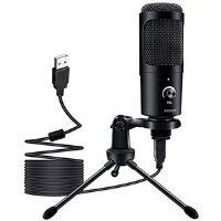 Micrófono USB utilizado para hacer grabaciones profesionales.