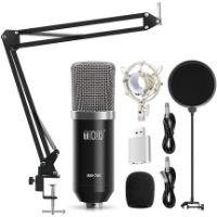 Micrófono de estudio profesional de la marca tonor.