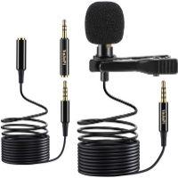 Micrófono de solapa. Micrófono pequeño y discreto. Se engancha a la camisa, cuello o corbata. Es de color negro. Muy buena relación calidad-precio.