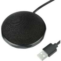 Micrófono para conferencias y seminarios. Excelente calidad de sonido. Micrófono de color negro.