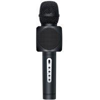 microfono de bluetooth de color negro para grabar