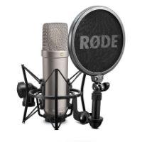 microfono de grabacion profesional de color negro y de la marca rode