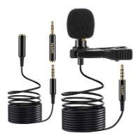 microfono de solapa de color negro para grabar