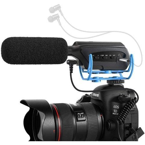 Micrófonos para cámaras Canon.. Excelente calidad. Accesorio para grabar vídeo. Color negro.