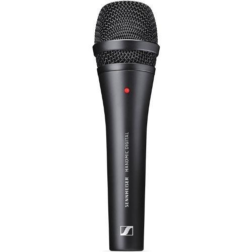 Micrófono de mano de la marca Sennheiser, concretamente el modelo Sennheiser E835. Color negro
